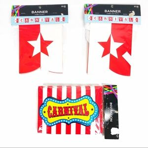 Carnival Circus Theme Party Invitation And Banners
